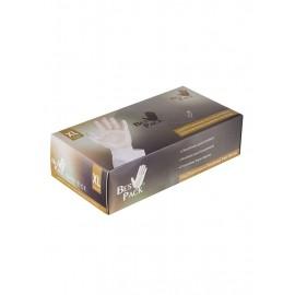 بيس باك قفازات مصنوعة من الفينيل شفاف XLarge